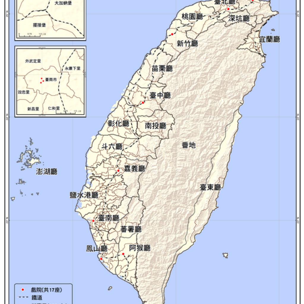 臺灣全島戲院分佈圖(1900-1909)