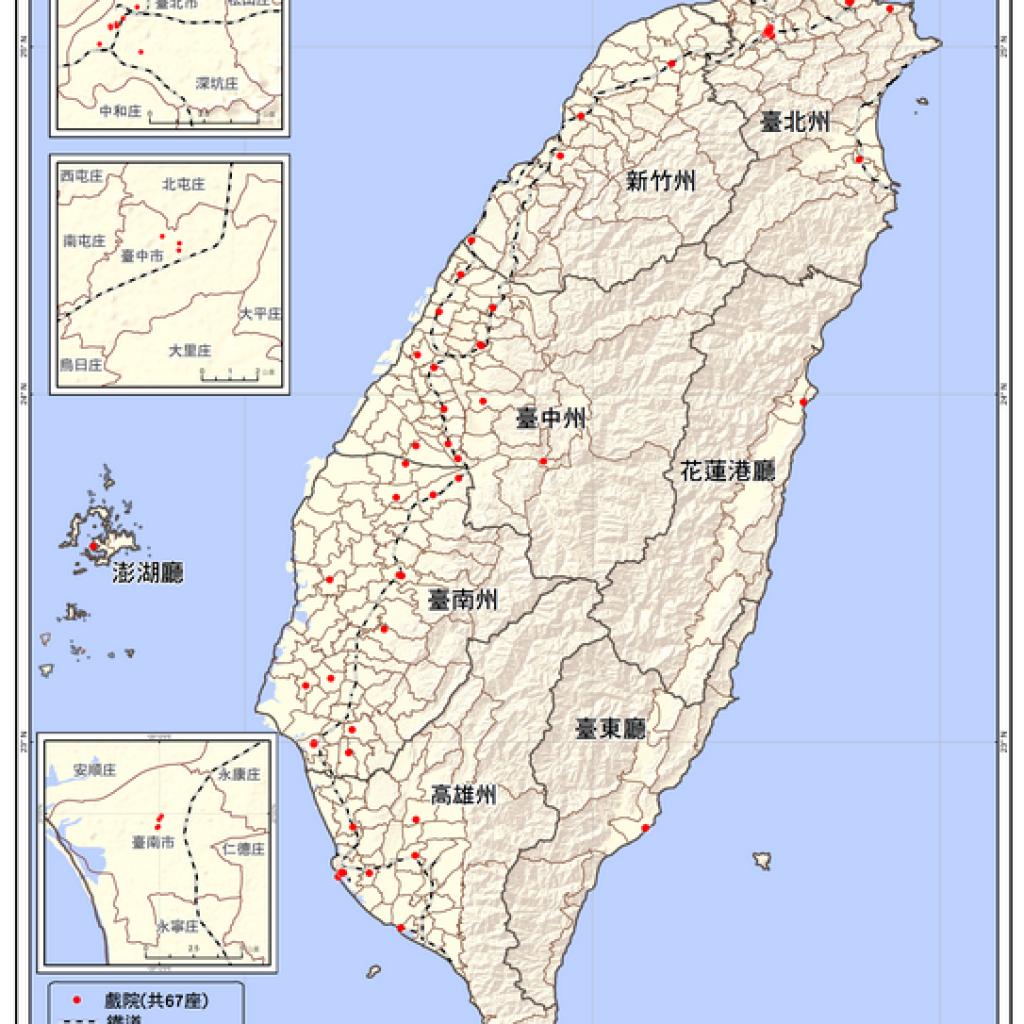 臺灣全島戲院分佈圖(1920-1929)